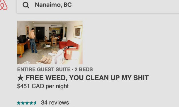 "Local man making thousands renting out ""authentic Nanaimo rental experience"""