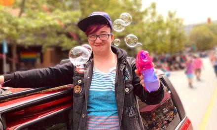 Local homosexuals use floating orbs to coat downtown with gay film