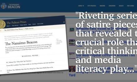 Nanaimo Beacon Wins 2020 Pulitzer Prize for Satire and Media Literacy